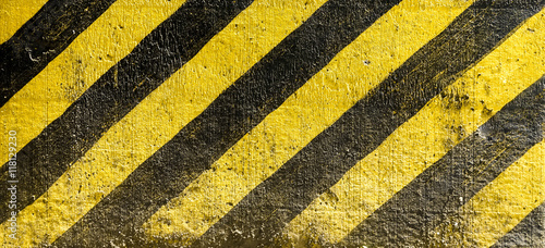 Fototapety żółte  striped-black-and-yellow-background-industrial-striped-road-warning-yellow-black-pattern