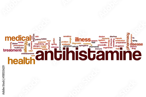 Antihistamine word cloud Wallpaper Mural