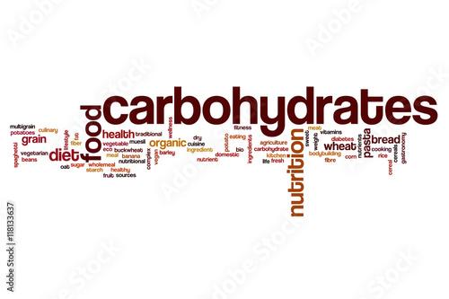Fotografía  Carbohydrates word cloud