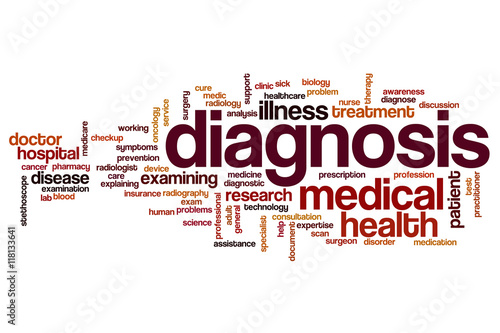 Fotografía  Diagnosis word cloud