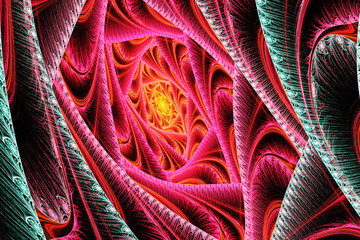 FototapetaAbstract red and green motion fractal
