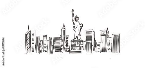 Fototapety, obrazy: Newyork City Vector