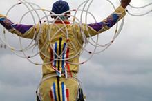 Colorful Native American Hoop Dancer