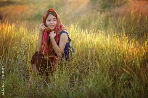 Fotografie, Obraz  Girls in rural Thailand
