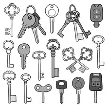 Large Collection Of Different Keys