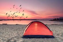 Campen Im Strandurlaub
