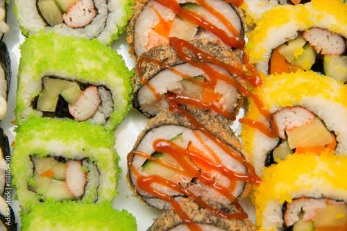 Sushi, Japanese food - 118169490