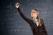 Schoolgirl work assignments in mathematics