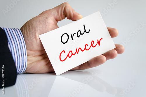 Fotografie, Obraz  Oral cancer text concept