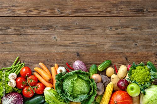 Assortment of  fresh vegetables Slika na platnu