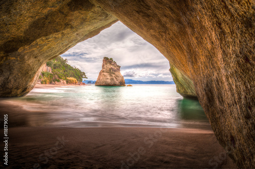 Aluminium Prints Cathedral Cove Cathedral Cove #2, New Zealand