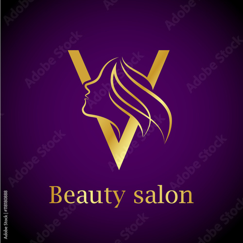 Abstract letter v logogold beauty salon logo design template buy abstract letter v logogold beauty salon logo design template thecheapjerseys Gallery