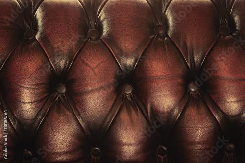 Fototapety, obrazy: Dark Brown Vintage Classic Sofa Leather background.