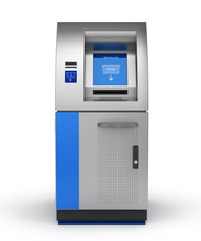 ATM Bank Cash Machine Isolated...