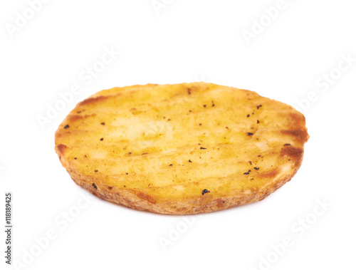 Tuinposter Kruiderij Baked potato slice composition, isolated