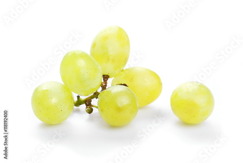 Vászonkép grapes isolated on white