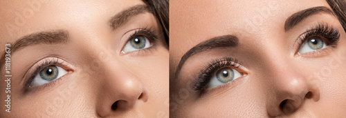 Eyelash extension and eyebrow correction