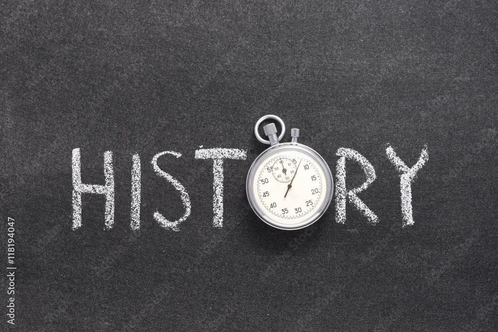 Fototapety, obrazy: history word watch