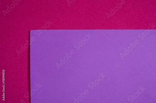 Eva foam ethylene vinyl acetate smooth light violet surface on pink sponge plush Fototapet