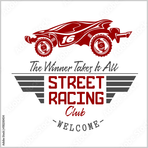 Street Racing club badge and design elements. - 118200454