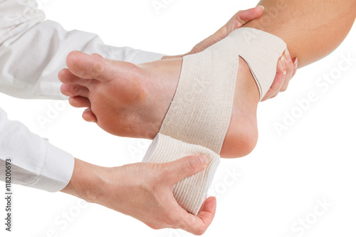 Fotomural Flexible elastic supportive orthopedic bandage, compression stabilizer ankle