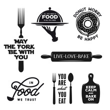 Food Related Typography Set. Q...