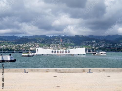 The USS Arizona Memorial in Pearl Harbor, USA Poster