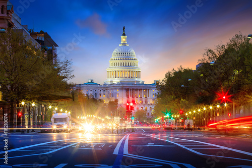 Capitol building in Washington DC Canvas Print