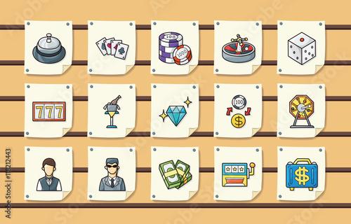 Casino and gambling icons set,eps10 плакат