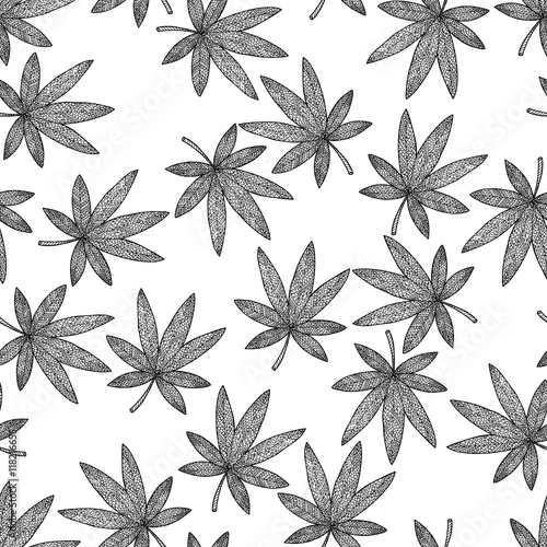 Seamless Pattern Background Marijuana Zen Tangle And Doodle Hashish Zentangle And Zendoodle Wallpaper Black And White Leafs Coloring Book Drug Buy This Stock Vector And Explore Similar Vectors At Adobe Stock