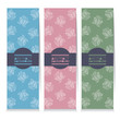 Modern Design Set Of Three Vertical Banners Rose Graphic Vector Illustration