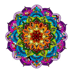 Naklejka Boho Mandala ornament, colorful pattern for your design
