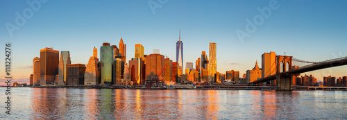 Foto auf Leinwand New York New York City Panorama - Manhattan at the early morning