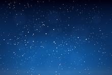Falling Snow Background. Winter Snowed Sky Vector Illustration