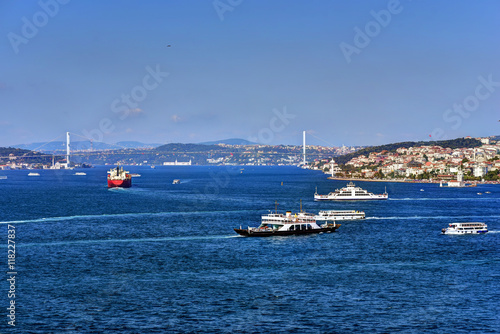 Stampa su Tela  View of the entrance to the Bosphorus from the Sea of Marmara, as seen from the