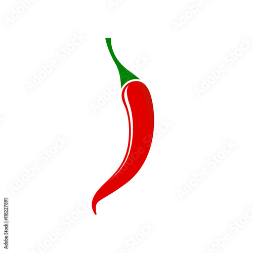 Fotografie, Obraz  Red hot chili pepper - Vector