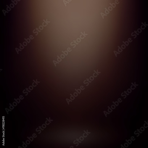 Obraz Abstract brown gradient background. Used as background for product display - Vector - fototapety do salonu