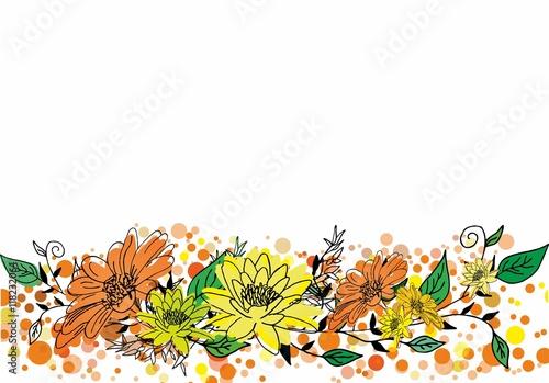 Fototapeta Decorative abstract flower vector background obraz