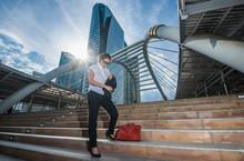 Businesswoman On Sathorn Bridg...