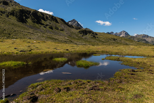 Beautiful mountain lakes of the Tyrolean Alps in Austria  #118234232