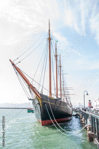 Fényképezés Balclutha - sailing boat museum, San Francisco, California.