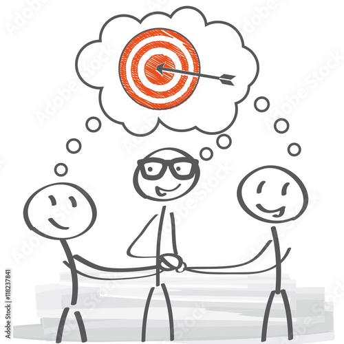 Team hat gemeinsames Ziel - Teamwork – kaufen Sie diese ...
