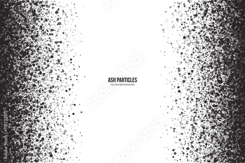 Photo Abstract vector dark gray round ash particles on white background