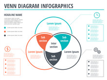 Venn Diagram Circles Infograph...