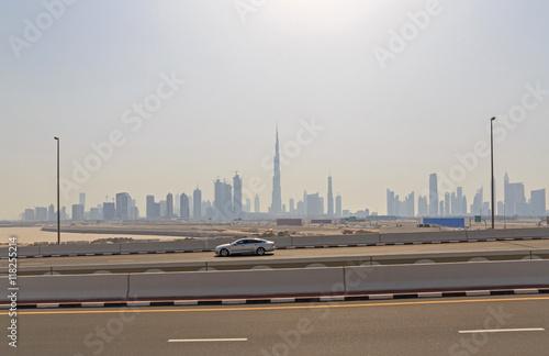 Fototapeta pejzaż centrum dzielnicy Dubaju