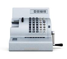 Vintage Cash Register Front Vi...