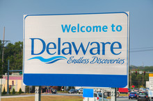 Welcome To Delaware Road Sign