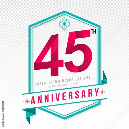 Anniversary emblems template design Poster