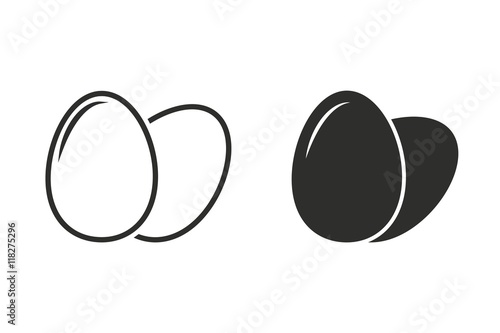 Egg - vector icon. Fotobehang