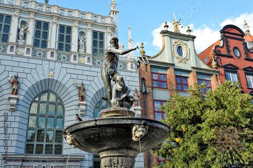 Fontanna z Neptunem w Gdańsku